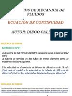 9 Ecuacion de Continuidad Caudal