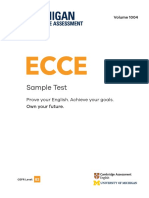 ECCE Sample Test Booklet