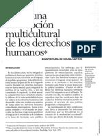 Santos Boaventura, Concepción multicultural derechos humanos