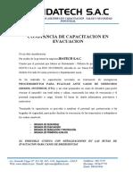 CERTIFICADO CAPACITACION EVACUACION