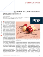 Benchmarking biotech and pharmaceutical product development