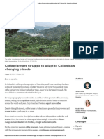 Coffee farmers struggle to adapt to Colombias changing climate