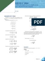 007-Matemática-1-Função do 2 Grau-EQUAÇÕES INCOMPLETAS E COMPLETAS E SOMA E PRODUTO DAS RAÍZES