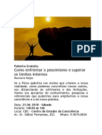 Palestra Pessimismo e Limites Internos 23.06