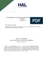 Contributions à l'estimation des paramètres du canal MIMO