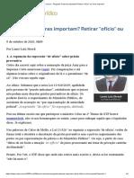 (08.10) - Pergunta_ Palavras importam_ Retirar _ofício_ ou _livre_ importa_