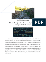 What Does Justice Demand of Whom?