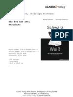 """Press Release """"Schwarz / Weiß"""" von Martin Semesch; Christoph Wittmann"""