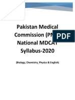 Revised PMC National MDCAT Syllabus 2020.pdf