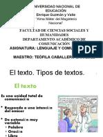 CLASE MAGISTRAL 2018.TIPO DE TEXTOS[2712]