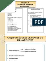 Chapitre II. ECOLE DES PENSES DE MANAGEMENT