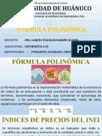 FÓRMULAS POLINÓMICAS xx