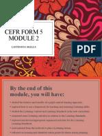 CEFR FORM 5 MODULE 2