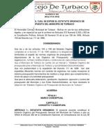 ACUERDO N° 004-2016 ESTATUTO DE PRESUPUESTO