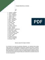 Principales hidroeléctricas en Colombia