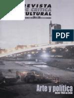 Arte y Política, revista crítica cultural.