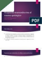 Respuesta neuroendocrina al trauma quirúrgico