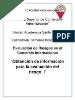 Obtención de información para la evaluación del riesgo. I