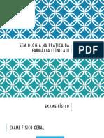 Semiologia na prática da farmácia clínica II