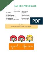 Actividad de Aprendizaje ( Nocion Igual y Diferente)