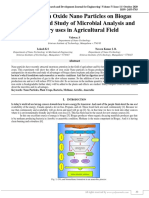 Effect of Iron Oxide Nano Particles on Biogas Production and Study of Microbial Analysis and its Slurry uses in Agricultural Field