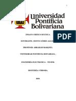 ENSAYO DE ETICA- UN PROFESIONAL SIN ETICA