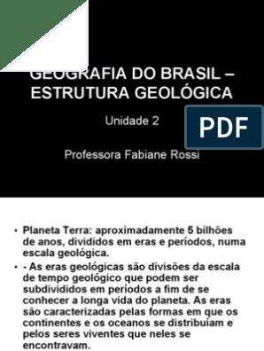 Geografia Do Brasil Estrutura Geologica Rocha ígnea Solo