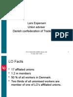 Danish confederation of trade unions 10 May 2007 FVU