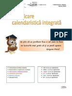 PLANIFICARE CALENDAR. INTEGRATĂ CLASA 2