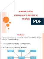 Introduction to Spectroscopic Methods of Analysis