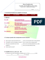 C.1.6 - Ficha de Trabalho - L'Expression de la négation (2)