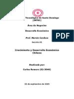 Crecimiento y Desarrollo Economico Chileno (Trabajo Final)