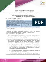 Guia de actividades y Rúbrica de evaluación -Escenario2- Acción Tutorial en AVA