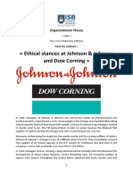 Case study 6- J&J and Dow Corning