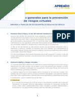 4.- Orientaciones generales para la prevención de riesgos virtuales para familias