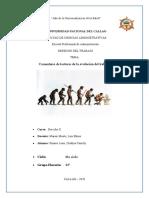 COMENTARIOS DE LA LECTURA EVOLUCIÓN DEL TRABAJO