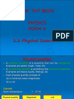 1.2 Physical Quantities