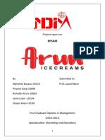 Arun Ice Cream- Case Study Report