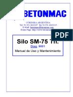 Manual Mecánico - Silo Sm-75 Tn