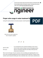 Proper valve usage in water treatment facilities _ 2020-04-14 _ PM Engineer
