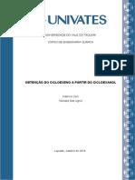 Relatório OBTENÇÃO DO CICLOEXENO A PARTIR DO CICLOEXANOL - Fabrício Zeni e Wendell Dall Agnol.docx