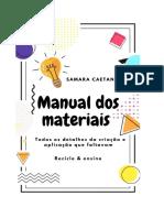 Manual dos materiais - amostra grátis
