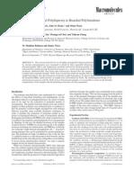 Sintesis polibutadienos en forma de H