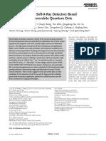 (2019) Flexible, Printable Soft-X-Ray Detectors Based on All-Inorganic Perovskite Quantum Dots