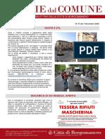 Notizie Dal Comune di Borgomanero del 7-11-2020