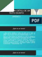 COMPOSICIÓN CRÍTICA DE UN TEXTO ESCRITO UNIDAD 2.pptx