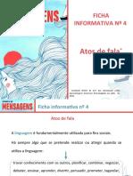 Ficha informativa nº 4 - Atos de fala