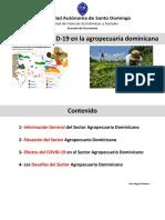Impacto del COVID-19 en la agropecuaria dominicana