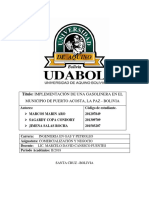 IMPLEMENTACIÓN DE UNA GASOLINERA EN EL MUNICIPIO DE PUERTO ACOSTA, LA PAZ - BOLIVIA