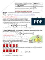 3 GUIA MATEMATICAS- MULTIPLICACION Y DUIVISION DE FRACCIONES